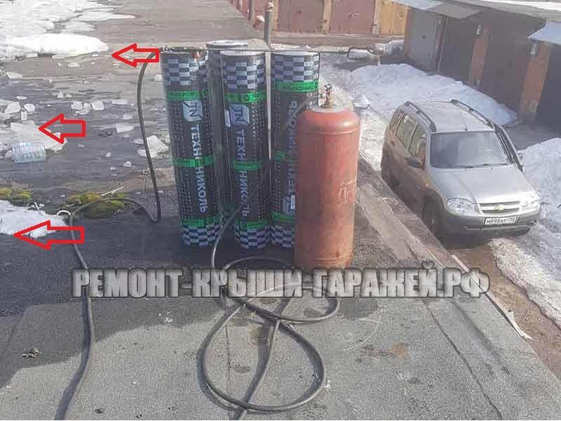 Ремонт крыши гаража Химки ГСК-10 (1)