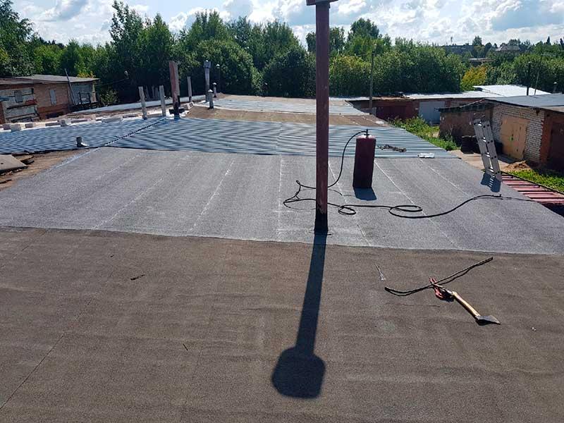 ремонт крыши гаража в твери